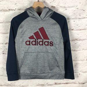 NWOT Youth Boys Adidas Hoodie Sweatshirt S…